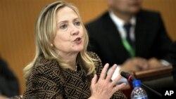 Hillary Rodham Clinton, en Mongolie, le 9 juillet 2012