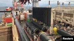 Jaringan Pipa Rusia 'Nord Stream 2' di Laut Baltik (foto: dok).