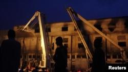 آتشزدگی کا شکار ہونے والی فیکٹری