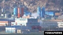 한국 파주 도라산 전망대에서 바라본 개성공단. (자료 사진)