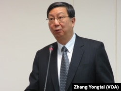 台湾经济部次长 卓士昭(美国之音 张永泰拍摄)