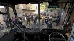 اتوبوس دانش آموزان در استان پیشاور در مسیر عبور خود بر اثر برخورد با بمبی که در کنار جاده کار گذاشته شده بود، منفجر شد
