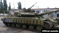 Захолений українськими силовиками російський танк
