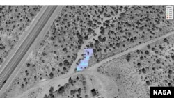 A methane plume observation by NASA's AVIRIS-NG spectrometer instrument. (NASA/JPL-Caltech)
