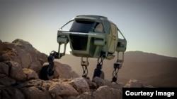 The Hyundai Elevate demonstrates its mammalian walking style. (Hyundai)