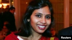FILE - Devyani Khobragade, India's deputy consul general, attends a fundraiser event in Long Island, New York, Dec. 8, 2013.