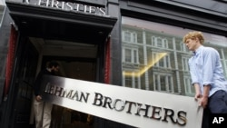 Many believe the failure of the investment bank Lehman Brothers in Septemeber of 2008 marked the start of the world financial crisis.