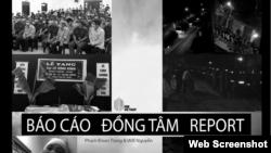 Trang bìa Báo cáo Đồng Tâm, của Phạm Đoan Trang và Will Nguyễn, phiên bản thứ ba, công bố ngày 25-9-2020.