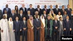 6일 이집트 수도 카이로에서 이슬람협력기구 정상회의에 참석한 각 국 정상들.
