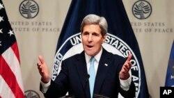 سخنرانی جان کری وزیر خارجه ایالات متحده درباره استراتژی آمریکا در سوریه در مؤسسه آمریکایی صلح - ۲۱ آبان ۱۳۹۴
