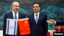 以色列總理內塔尼亞胡5月8日訪問中國期間和李克強會面。