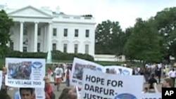 Imyiyerekano y'ukwiyamiriza ihonyabwoko muri Darfur i Washington