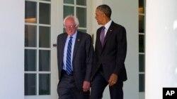 Obama y Sanders conversaron durante más de una hora en la Casa Blanca.