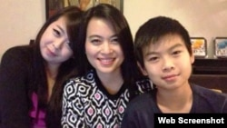 Ảnh ba mẹ con chị Nguyễn Ngọc Minh trên báo chí Việt Nam.