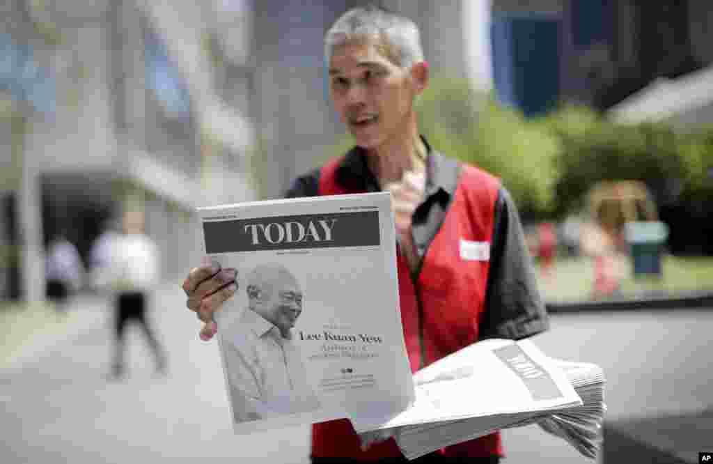 Báo địa phương phát hành phiên bản đặc biệt về cuộc đời và sự nghiệp của ông Lý Quang Diệu, ngày 23/3/2015.