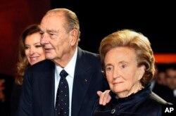 Jacques Chirac et sa femme Bernadette.