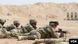 Georgian soldiers in Afghanistan