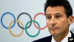 FILE - Sebastian Coe, president of the IAAF.