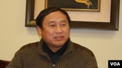 中国民主党全国委员会主席王军涛(方冰拍摄)