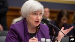 Kepala Federal Reserve, Janet Yellen mengindikasikan suku bunga acuan mungkin akan dinaikkan dalam waktu dekat (foto: dok).
