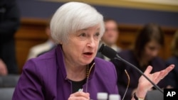 FILE - Federal Reserve Chair Janet Yellen testifies on Capitol Hill in Washington, Nov. 4, 2015, at the House Financial Services Committee hearing on banking supervision and regulation.