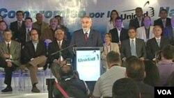 Precandidatos a la presidencia se pronunciaron por un gobierno de unidad nacional.