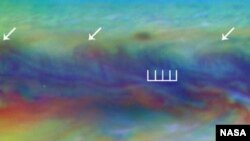 Pada sabuk ekuator utara Yupiter, ilmuwan menemukan gelombang langka yang baru terlihat sekali. Gelombang itu mirip dengan gelombang yang kadang muncul di atmosfir Bumi menjelang topan.
