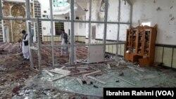 Đền thờ Hồi giáo Shia bị tấn công ở Gardez. Ảnh VOA, chụp ngày 3/8/2018.
