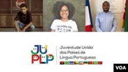 Co-fundadores da JUPLP, Ricardo Soares, à esquerda, Navváb Aly Danso e Bruno Mourinho