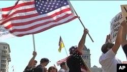 Članovi pokreta Čajanka na jednom od protesta u Vašingtonu.