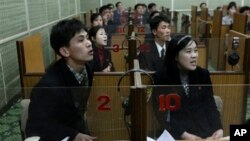 북한의 시청각 영어 수업. (자료사진)