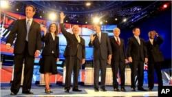 Les sept avant le débat de Manchester, dans le New Hampshire