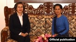 ကုလ ကိုယ္စားလွယ္နဲ႔ ႏိုင္ငံေတာ္ အတိုင္ပင္ခံ ေဒၚေအာင္ဆန္းစုၾကည္ ေနျပည္ေတာ္မွာ ေတြ႔ဆံု (Myanmar State Counsellor Office)