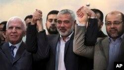 El acuerdo fue anunciado en Gaza por dirigentes de la OLP y el jefe de Hamás, Ismail Haniyeh.