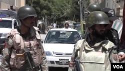 FILE - Security in Pakistan's Baluchistan province.