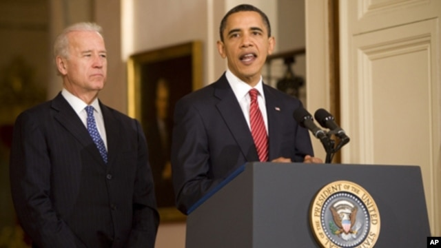 President Barack Obama and Vice President Joe Biden, 21 Mar 2010