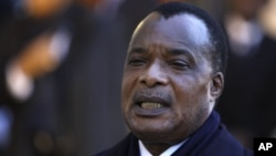 FILE - Opposition leaders fear constitutional changes would give Republic of Congo President Denis Sassou Nguesso license to seek a third term.
