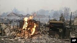 La Californie est ravagée depuis des mois par de vastes incendies (AP Photo/Eric Risberg)