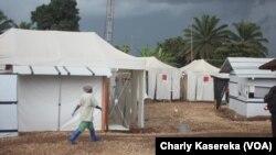 Au centre de traitement d'Ebola à Beni, 15 octobre 2018. (VOA/Charly kasereka)
