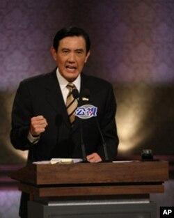 马英九在辩论会上讲话