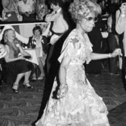Congresswoman Shirley Chisholm enjoys herself on the dance floor at the famous Copacabana club in New York