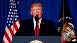 Donald Trump fala à nação
