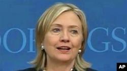 US Secretary of State Hillary Clinton, 27 May 2010