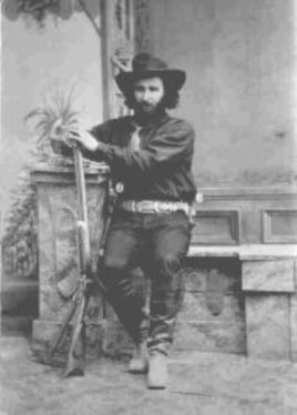 Silver miner Ed Schieffelin founded the town of Tombstone (Photo taken in 1880)