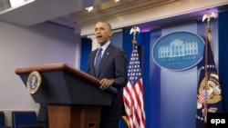 Le président Barack Obama donne une conférence de presse, Washington, le 12 juin 2016. epa/MICHAEL REYNOLDS