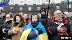 Người biểu tình tụ tập ở Kyiv để hối thúc Ukraina ký kết hiệp định với Liên hiệp Âu châu, 6/12/2013