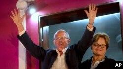 Pedro Pablo Kuczynski agradeció al Perú y dijo tomar con modestia el veredicto preliminar de la ONPE.