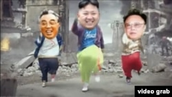 중국에서 북한 김정은 국방위원회 제1위원장을 희화화하는 내용의 동영상이 큰 반향을 일으키고 있다. 유투브에 올라온 동영상 장면.