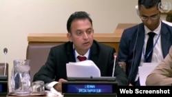 جاوید رحمان گزارشگر ویژه سازمان ملل متحد در امور حقوق بشر ایران - ۲۴ اکتبر ۲۰۱۸