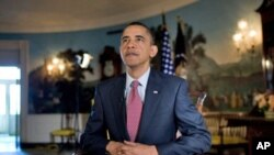 US President Barack Obama delivers the weekly address, 03 Apr 2010